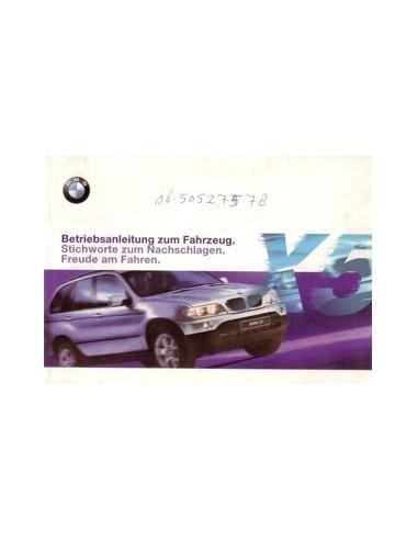 2000 BMW X5 INSTRUCTIEBOEKJE DUITS