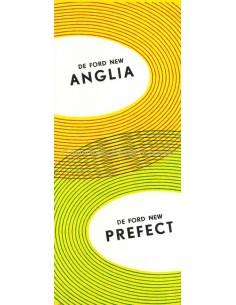 1954 FORD PREFECT & ANGLIA PROSPEKT NIEDERLÄNDISCH