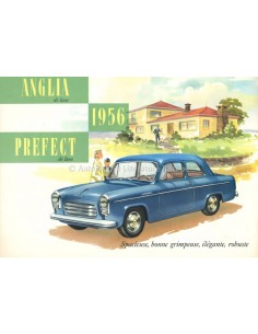1956 FORD PREFECT / ANGLIA DELUXE BROCHURE FRENCH