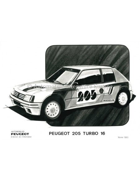1983 PEUGEOT 205 TURBO 16 PRESSKIT GERMAN / FRENCH