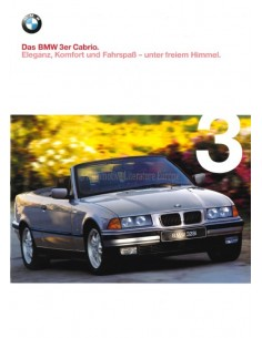 1998 BMW 3ER CABRIO PROSPEKT DEUTSCH
