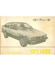 1984 ALFA ROMEO GTV6 2.5 OWNERS MANUAL DUTCH
