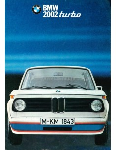 1973 BMW 2002 TURBO BROCHURE GERMAN