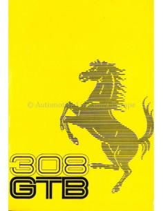 1975 FERRARI 308 GTB BETRIEBSANLEITUNG 116/75