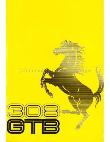 1975 FERRARI 308 GTB OWNERS MANUAL 116/75