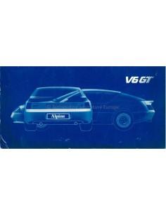 1985 ALPINE V6 GT BETRIEBSANLEITUNG