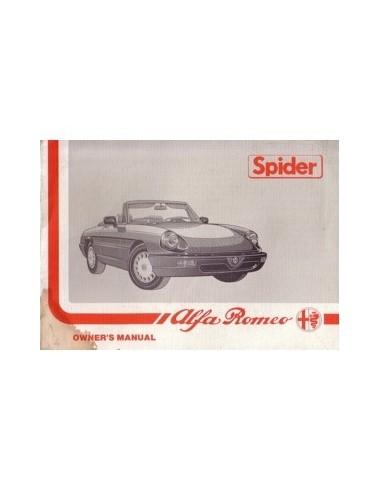 1989 ALFA ROMEO SPIDER INSTRUCTIEBOEKJE ENGELS