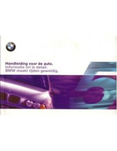 1999 BMW 5 SERIES OWNERS MANUAL HANDBOOK DUTCH
