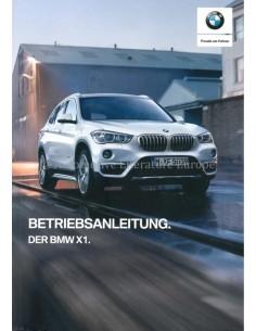 2018 BMW X1 BETRIEBSANLEITUNG DEUTSCH