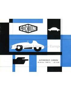 1957 GORDINI T.35 BROCHURE FRANS