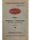 1929 BUGATTI TYPE 44 3-LITER INSTRUCTIEBOEKJE FRANS