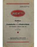 1929 BUGATTI TYPE 44 3-LITRES OWNERS MANUAL FRENCH