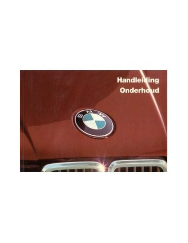 1984 BMW 3 SERIE INSTRUCTIEBOEKJE NEDERLANDS
