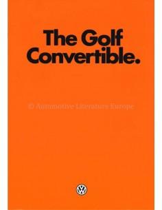 1980 VOLKSWAGEN GOLF CONVERTIBLE BROCHURE ENGLISH