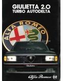 1983 ALFA ROMEO GIULIETTA 2.0 TURBO AUTODELTA BROCHURE GERMAN