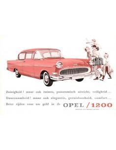 1959 OPEL 1200 DATENBLATT NIEDERLÄNDISCH