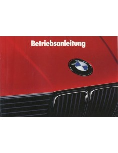 1988 BMW 3 SERIES OWNERS MANUAL GERMAN