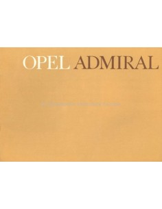 1964 OPEL ADMIRAL A BROCHURE DUTCH
