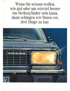 1966 OPEL ADMIRAL A BROCHURE GERMAN