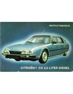 1981 CITROEN CX 2.5 LITRE DIESEL OWNERS MANUAL DUTCH