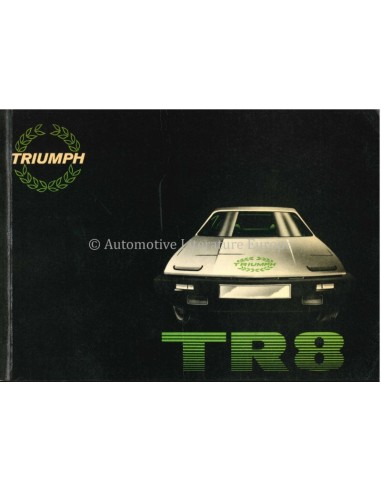1980 TRIUMPH TR8 OWNERS MANUAL ENGLISH