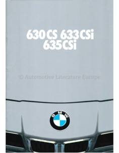 1979 BMW 6 SERIES BROCHURE DUTCH