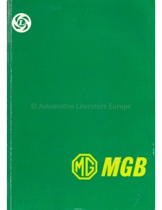 1976 MG MGB WORKSHOP MANUAL ENGLISH