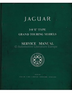 1960 JAGUAR 3.8 LITRE GRAND TOURING SERVICE MANUAL ENGLISH