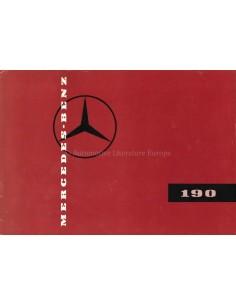 ~1958 MERCEDES BENZ 190 BROCHURE GERMAN