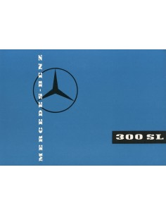 1959 MERCEDES BENZ 300 SL ROADSTER BROCHURE DUITS