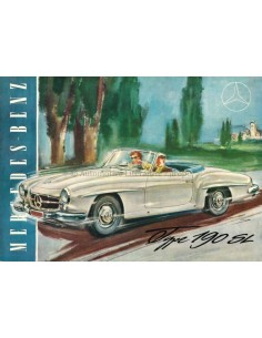 1955 MERCEDES BENZ 190 SL BROCHURE FRENCH