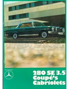 1971 MERCEDES BENZ 280 SE 3.5 COUPE & CABRIOLET BROCHURE DUTCH