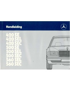 1985 MERCEDES BENZ S KLASSE INSTRUCTIEBOEKJE NEDERLANDS