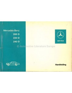 1973 MERCEDES BENZ E CLASS OWNERS MANUAL DUTCH