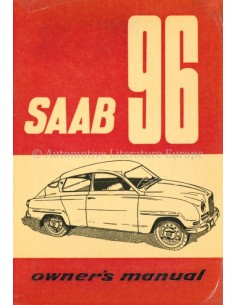 1962 SAAB 96 BETRIEBSANLEITUNG ENGLISCH