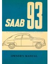 1958 SAAB 93 OWNERS MANUAL HANDBOOK ENGLISH