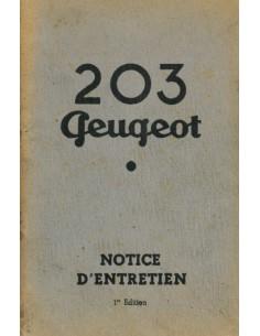 1949 PEUGEOT 203 INSTRUCTIEBOEKJE FRANS