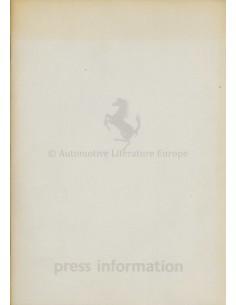 1982 FERRARI PROGRAMM PRESSEMAPPE ENGLISCH
