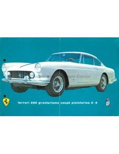 1960 FERRARI 250 GRANTURSIMO COUPE PININFARINA 2+2 PROSPEKT DEUTSCH