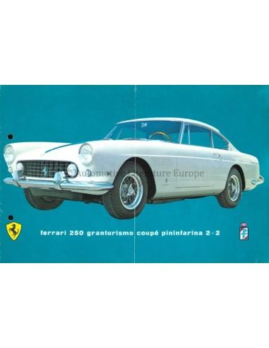 1961 FERRARI 250 GRANTURSIMO COUPE PININFARINA 2+2 PROSPEKT DEUTSCH