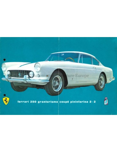 1961 FERRARI 250 GRANTURSIMO COUPE PININFARINA 2+2 BROCHURE DUITS