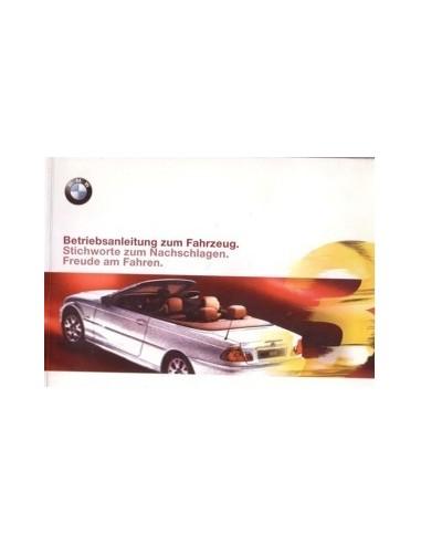 2000 BMW 3 SERIE CABRIO INSTRUCTIEBOEKJE DUITS