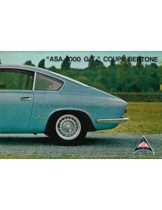 1962 ASA 1000 G.T. COUPE BERTONE BROCHURE ENGLISH