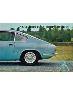 1962 ASA 1000 G.T. COUPE BERTONE BROCHURE ITALIAN