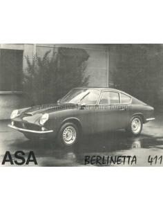 1965 ASA BERLINETTA 411 COUPE LEAFLET