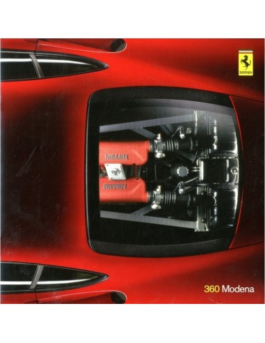 1999 FERRARI 360 MODENA PRESS BROCHURE 1457/99