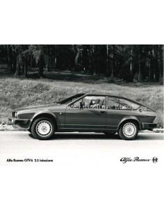 1980 ALFA ROMEO GTV6 2.0 INIEZIONE PRESSE BILD