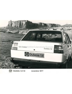 1977 ALFA ROMEO GIULIETTA 1.3/1.6 PRESS PHOTO