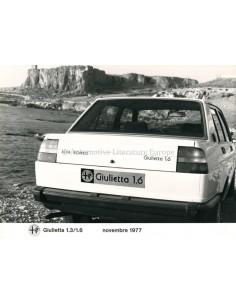 1977 ALFA ROMEO GIULIETTA 1.3/1.6 PRESSE BILD