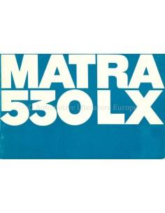 1970 MATRA 530 LX PROSPEKT DEUTSCH